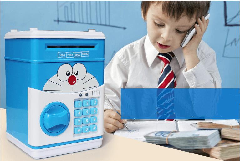 Giúp con trẻ học tập tính tiết kiệm tiền với Két Mini Thông Minh mẫu mới 2017.