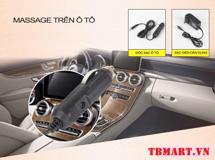 Gối Massage Hồng Ngoại Akita Japan - Tặng kèm tẩu điện 12V trên ô tô.