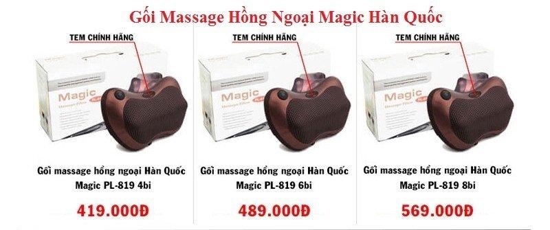 Gối Massage Hồng Ngoại Magic Hàn Quốc - PL 819