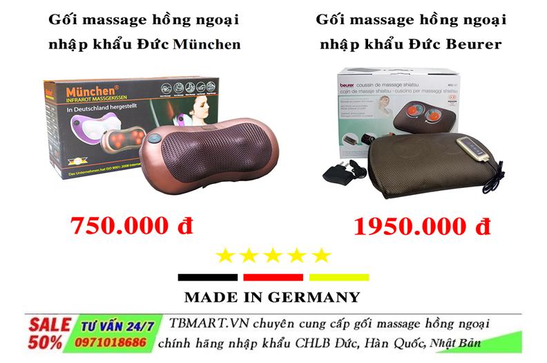 Gối Massage Hồng Ngoại Nhập Khẩu Đức