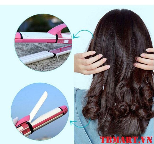 Máy làm tóc Kemei 3 in1 -Làm nhiều kiểu tóc thật dễ dàng và tiện lợi.