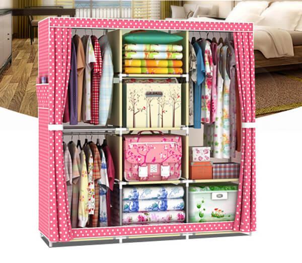 Tủ Vải 3 Buồng 8 Ngăn cao cấp - Cho căn phòng thêm sạch đẹp!