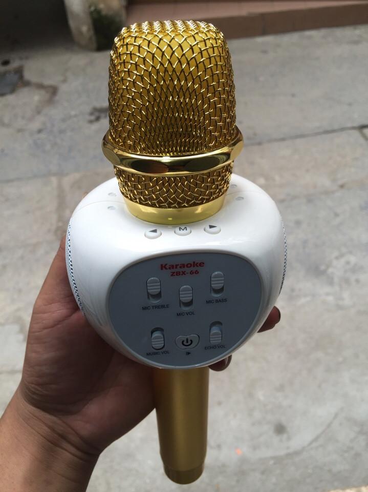 Mic Kèm Loa Karaoke Bluetooth ZBX 66 - Đẹp - Độc - Lạ.