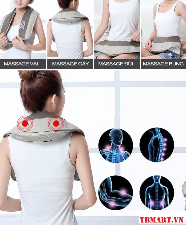 Massage được rất nhiều các vị trí khác nhau.