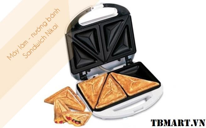 Máy Nướng Bánh Nikai - Nướng Bánh Sandwich dễ dàng tiện lợi !