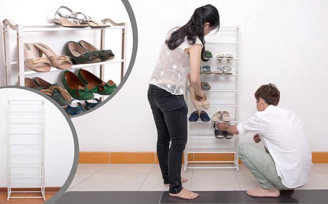 Kệ Để Giầy 10 Tầng Amazing Shoes Rack có thể để được 30 đôi giầy.