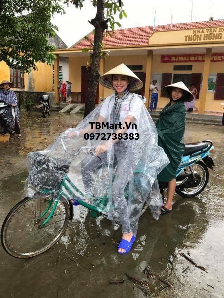 Áo Mưa Trong Suốt - Hàng Việt Nam Chất Lượng Cao - Hoa Hậu Phạm Hương Tin Dùng !