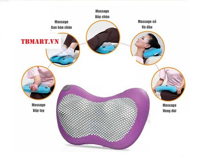 Gối Massage Vai Gáy Hồng Ngoại 4 Bi, 6 Bi, 8 Bi chính hãng Hàn Quốc.