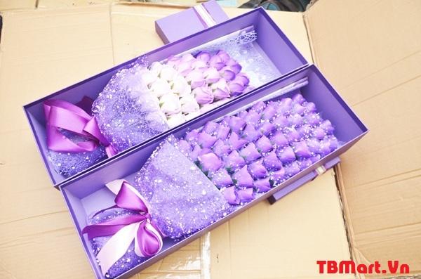 Mẫu Hoa Hồng Sáp Thơm hộp 33 Bông Mẫu mới, luôn được săn đón bởi những khách hàng sành về hoa sáp.