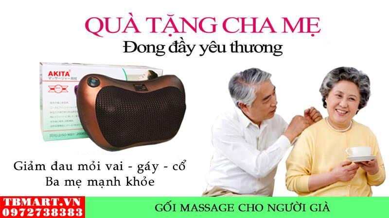 Gối Massage Vai Gáy Hồng Ngoại Akita - Quà Tặng Ý Nghĩa Cho Ba Mẹ.