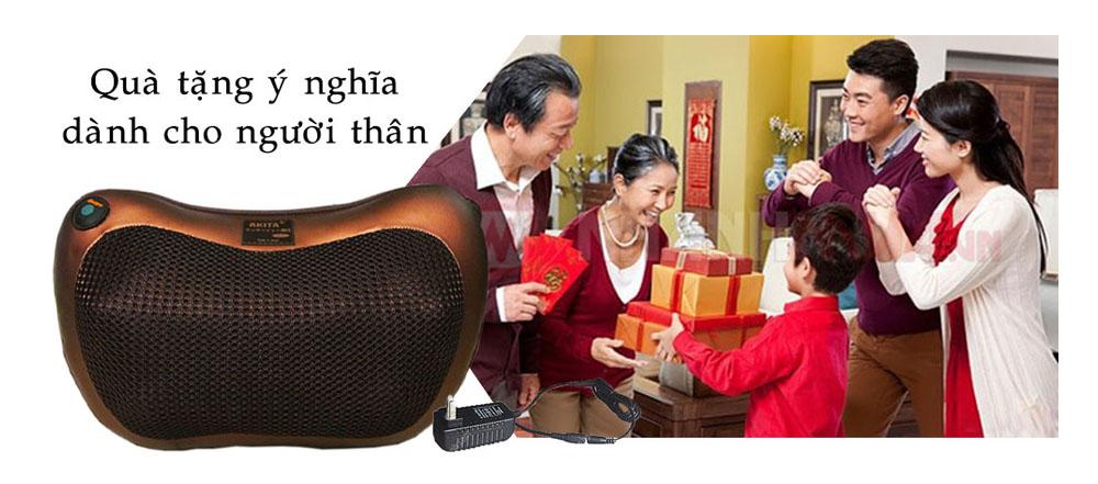 Gối Massage Hồng Ngoại AKITA made in Japan - Món quà tuyệt vời dành tặng ba mẹ, người thân.