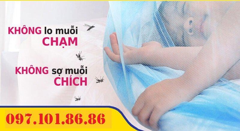 Màn Chụp Tự Bung chống Muỗi Hiệu Quả cho Bé Yêu - Made in Việt Nam.