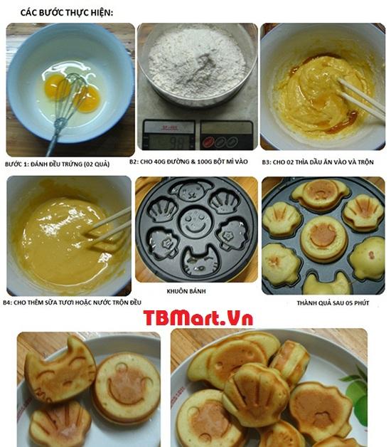 Quy Trình Làm Bánh Với Máy Nướng Bánh Hình Thú Philips