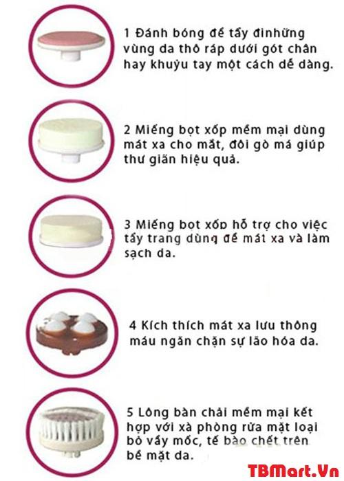 Máy Rửa Mặt Massage 5 trong 1 Beauty Care Massager chính hãng cao cấp của TB MART.