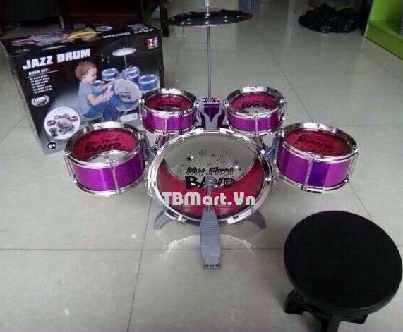 Trống đồ chơi Jazz Drum cho bé cỡ lớn của TB MART.