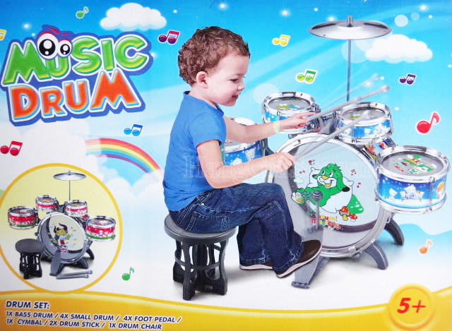 Bộ trống đồ chơi Jazz Drum cỡ lớn cho bé của TB MART.