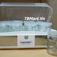 Máy Làm Sữa Chua Chefman 12 Cốc Thủy Tinh Cao Cấp của TB MART.