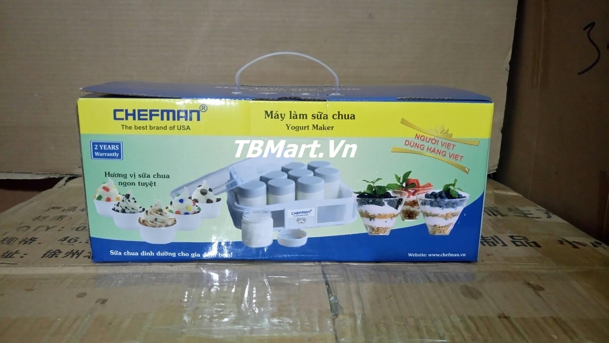 Máy Làm Sữa Chua Chefman 12 Cốc Thủy Tinh Cao Cấp của TB MART