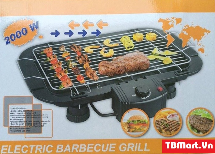 Bếp Nướng Không Khói Electric Barbecue Grill.