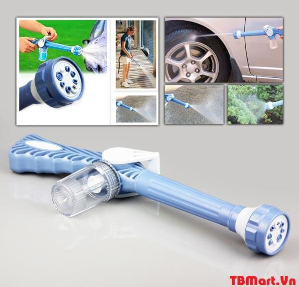 Vòi xịt nước rửa xe tăng áp thông minh 8 chế độ xịt.