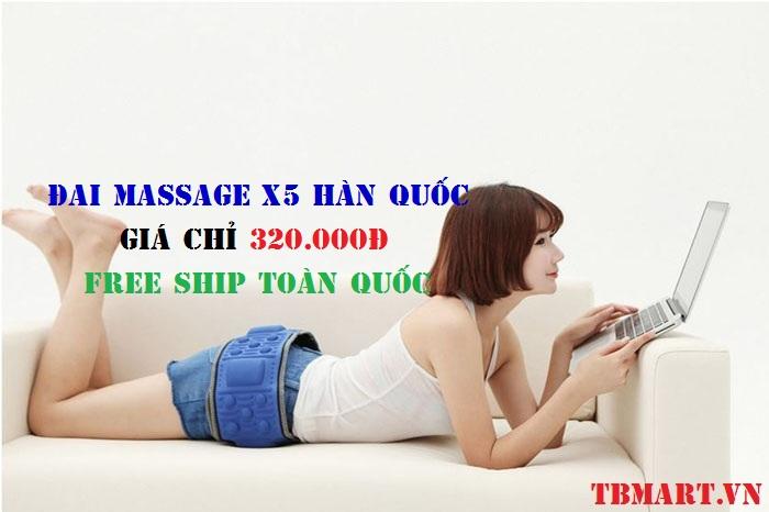 Đai Massage X5 - Bảo Hành 12 Tháng - Free Ship Toàn Quốc.
