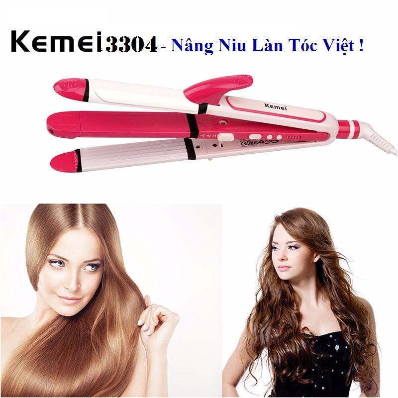 Máy Làm Tóc 3 trong 1 Kemei 3304 - Sự lựa chọn hàng đầu của các bạn gái Việt !