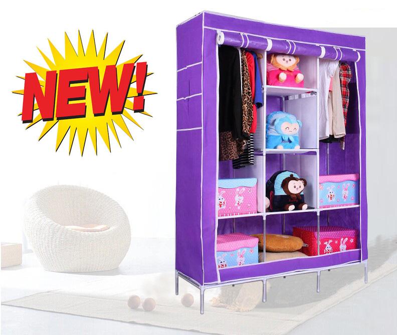 Tủ Vải 3 Buồng - Cho căn phòng luôn gọn gàng, quần áo được bảo vệ.