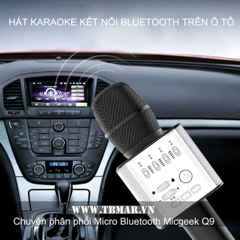 Mic Kèm Loa Micgeek Q9 - Kết Nối Bluetooth trên Ô Tô. Cho Bạn Trải Nghiệm Mới Nhất.