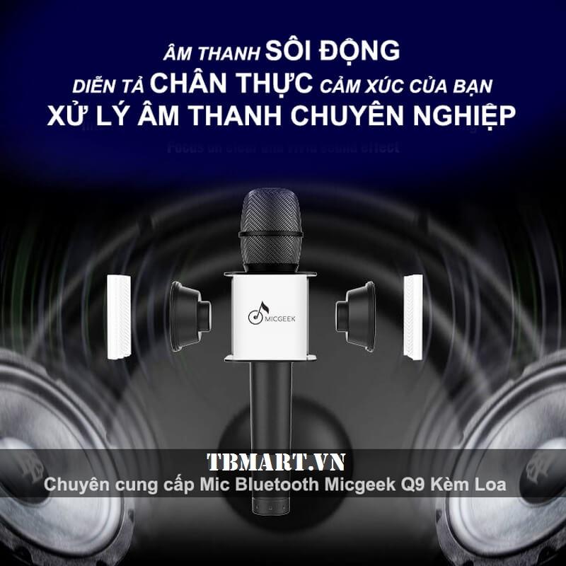 Mic Kèm Loa Bluetooth Micgeek Q9 - Âm Thanh Trung Thực, Sôi Động Theo Cảm Xúc Của Bạn !
