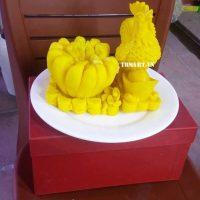 Nến Phật Thủ Gà Trống Vàng.