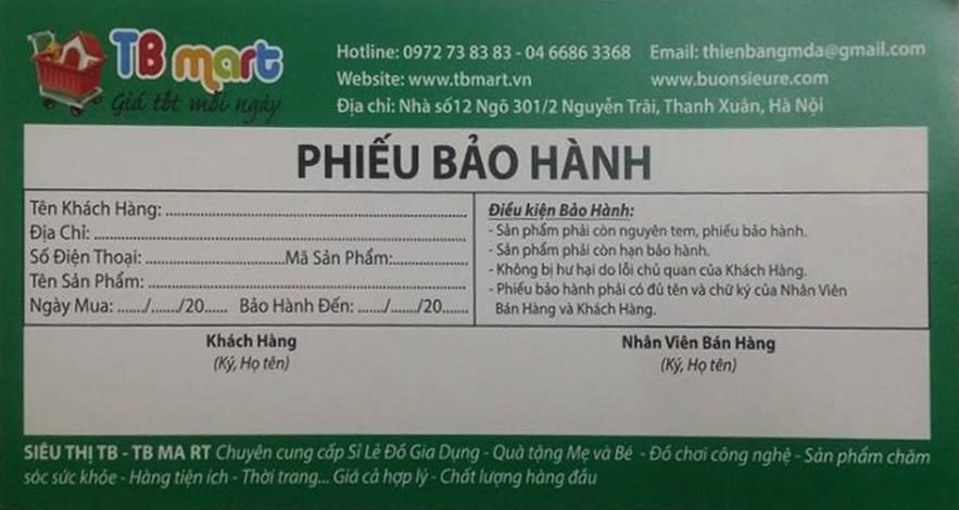 phieu bao hanh