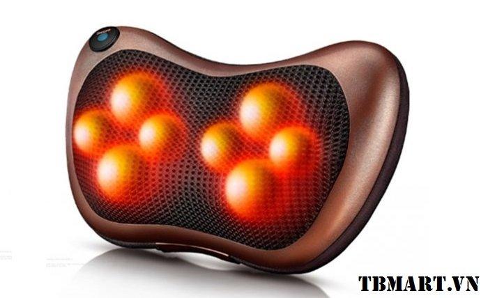 Gối Massage Hồng Ngoại 8 Bi - An toàn, hiệu quả.