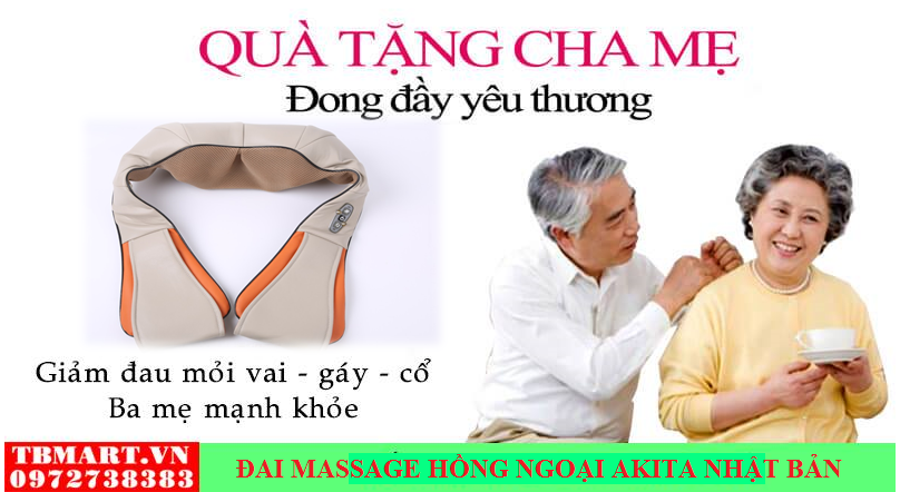 Đai Massage Hồng Ngoại - Máy Mát Xa Vai Gáy Hồng Ngoại Toàn Thân.