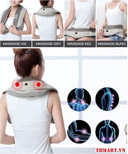 Đai Massage Đấm Lưng Vai Cổ Gáy Akita Nhật Bản.