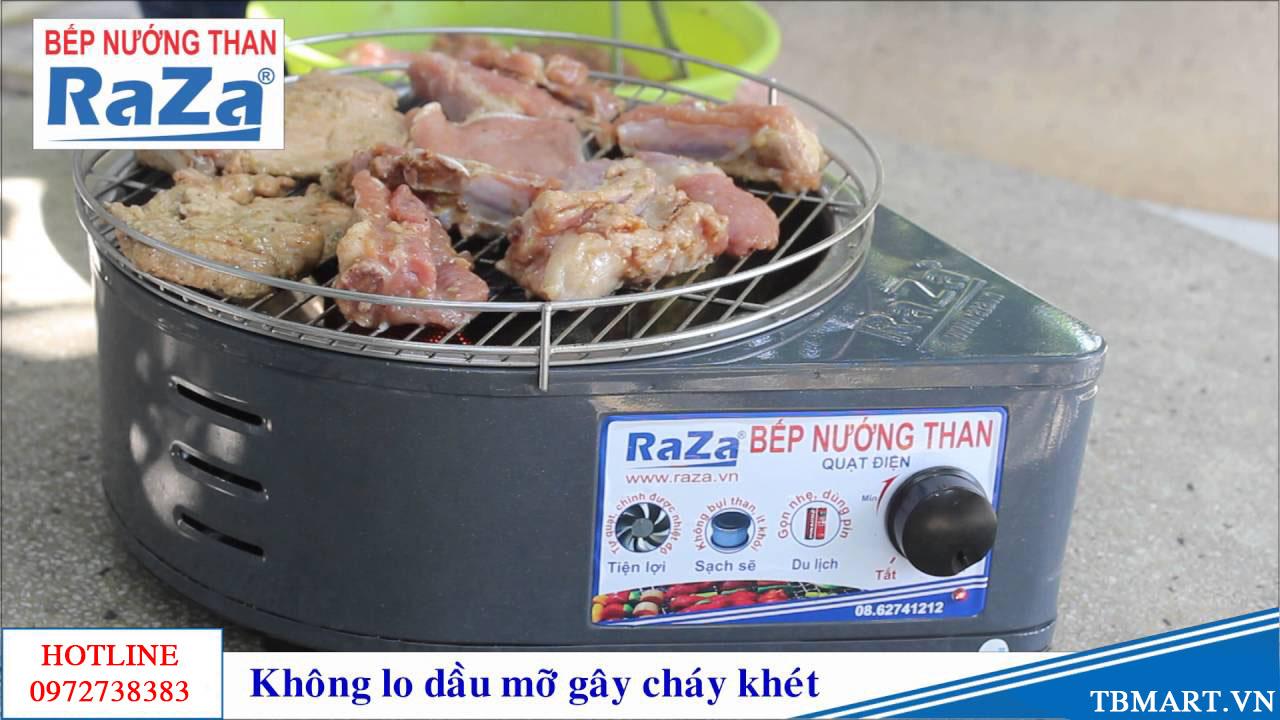 Bếp Nướng Than Hoa Có Quạt Điện Raza - Made in Việt Nam. Sản phẩm vàng cho chất lượng tốt nhất.